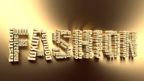 Nuvola dell'etichetta di parole chiavi di modo Fotografie Stock Libere da Diritti
