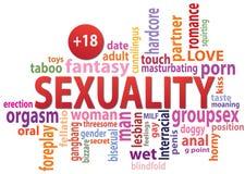 Nuvola dell'etichetta di sessualità Immagini Stock Libere da Diritti