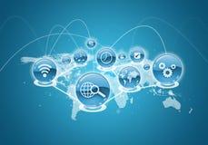 Nuvola dell'icona dell'applicazione blu illustrazione di stock