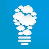 Nuvola dell'ingranaggio del Libro Bianco Vettore Fotografia Stock