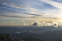 Nuvola della montagna Fotografia Stock Libera da Diritti