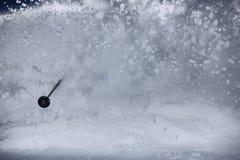 Nuvola della neve della polvere Fotografie Stock Libere da Diritti