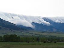 Nuvola delle montagne di Bridger coperta Fotografia Stock