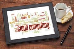 Nuvola di calcolo di parola della nuvola Immagine Stock