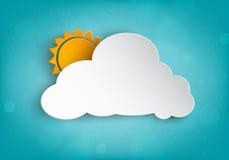 Nuvola di carta per il vostro testo illustrazione vettoriale