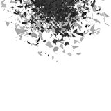 Nuvola di esplosione di Grey Pieces Fotografie Stock