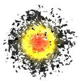 Nuvola di esplosione di Grey Pieces Illustrazione di Stock