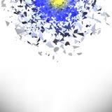Nuvola di esplosione di Grey Pieces Particelle taglienti Immagini Stock
