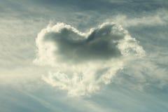 Nuvola di forma del cuore, immagine di sguardo d'annata fotografia stock libera da diritti