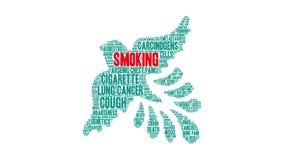 Nuvola di fumo di parola illustrazione di stock