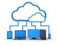 Nuvola di Internet, concetto Fotografie Stock Libere da Diritti