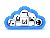 Nuvola di Internet, simbolo Immagini Stock
