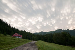 Nuvola di mammatus del cumulonembo Fotografie Stock Libere da Diritti