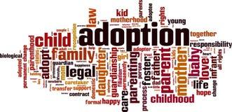 Nuvola di parola di adozione royalty illustrazione gratis