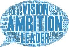 Nuvola di parola di ambizione royalty illustrazione gratis