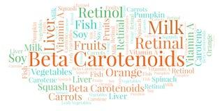 Nuvola di parola di Beta Carotenoids Illustrazione di Stock