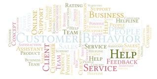 Nuvola di parola di comportamento del cliente illustrazione di stock