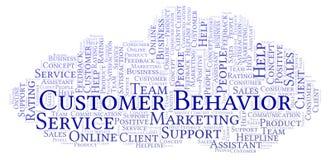 Nuvola di parola di comportamento del cliente illustrazione vettoriale