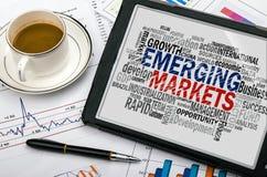 Nuvola di parola dei mercati emergenti Immagine Stock Libera da Diritti