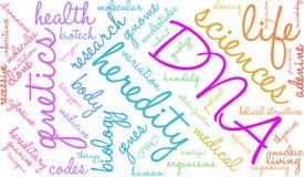 Nuvola di parola del DNA royalty illustrazione gratis