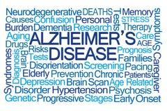 Nuvola di parola del morbo di Alzheimer Fotografia Stock Libera da Diritti