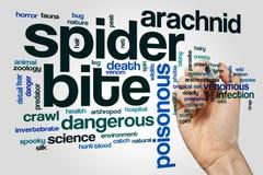 Nuvola di parola del morso del ragno immagine stock