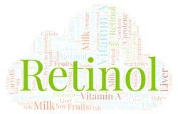 Nuvola di parola del retinolo Royalty Illustrazione gratis