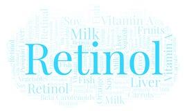 Nuvola di parola del retinolo Illustrazione di Stock