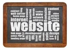 Nuvola di parola del sito Web Fotografia Stock