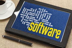 Nuvola di parola del software Fotografia Stock