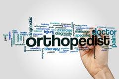 Nuvola di parola dell'ortopedico fotografia stock libera da diritti