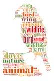 Nuvola di parola dell'uccello Fotografie Stock Libere da Diritti