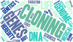 Nuvola di parola della clonazione illustrazione di stock