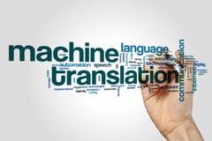 Nuvola di parola della traduzione automatica fotografie stock libere da diritti