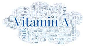 Nuvola di parola della vitamina A Royalty Illustrazione gratis