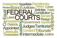 Nuvola di parola delle corti federali Fotografia Stock