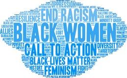 Nuvola di parola delle donne di colore royalty illustrazione gratis