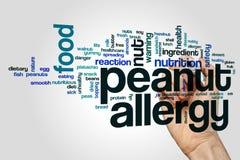 Nuvola di parola di allergia dell'arachide Fotografia Stock