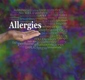 Nuvola di parola di allergie Fotografia Stock Libera da Diritti