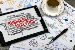 Nuvola di parola di analisi dei dati di affari immagini stock
