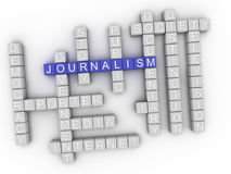 nuvola di parola di concetto di giornalismo 3d Immagini Stock