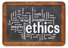 Nuvola di parola di etica Immagine Stock Libera da Diritti