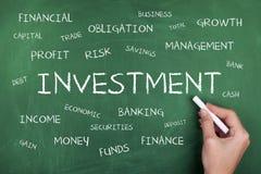 Nuvola di parola di investimento Fotografia Stock Libera da Diritti