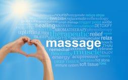 Nuvola di parola di massaggio di amore fotografia stock