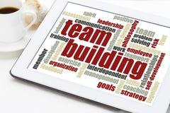 Nuvola di parola di team-building Fotografie Stock Libere da Diritti