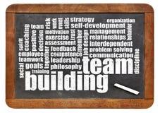 Nuvola di parola di team-building Fotografia Stock