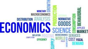 Nuvola di parola - economia Fotografia Stock