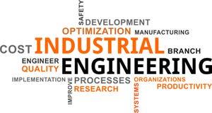 Nuvola di parola - ingegneria industriale illustrazione di stock
