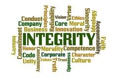 Nuvola di parola di integrità illustrazione vettoriale
