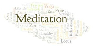 Nuvola di parola di meditazione royalty illustrazione gratis